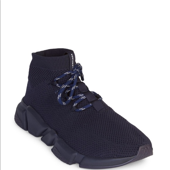 56e5ca96844 Balenciaga Lace-up Knit Sock Sneakers
